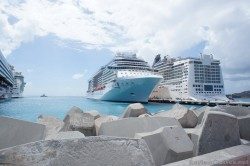 View of dock with Celebrity Refelection and Norwegian EPIC in St Maarten.jpg