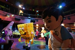 Patrick Spongebob and Diego dance around during Nickelodeon Character Breakfast Norwegian EPIC.jpg