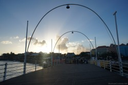 Crossing Queen Emma bridge near sunset at Willemstad Curacao.jpg