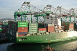 Evergreen Ever Conquest with China Shipping & Cosco Containers at Port of Los Angeles.jpg