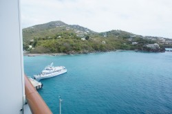 View of homes on hills on St Thomas seen from Norwegian Epic.jpg