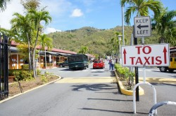 Exit to Taxis from cruise terminal of St Thomas.jpg