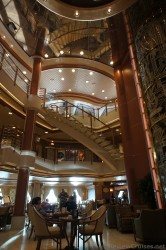 Curving Staircase seen from Sapphire Princess Piazza Level.jpg