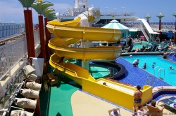 Big yellow water slide on the pool deck of the Norwegian Pearl.jpg