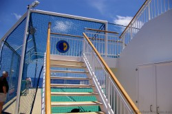 Stairs up and the view of the sports court aboard the Norwegian Pearl.jpg