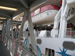 View of Norwegian Pearl lifeboats from ramp.jpg