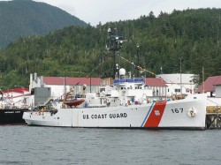 US Coast Guard Ship docked in Ketchikan, Alaska.jpg