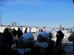 Giant Roadblock Balls covered by Snow at Baltimore Cruise Terminal.jpg