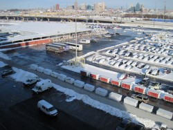 Buses & Snow-Covered Cars at Baltimore Cruise Terminal.jpg