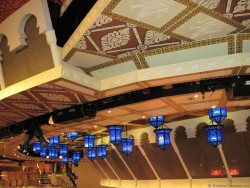 Indian Style Paneled Ceilings & Blue Latern Lights at Carnival Pride Theater.jpg