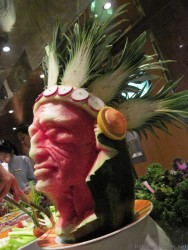 Native American Chief Carving out of Watermelon aboard Carnival Pride.jpg