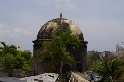 Gray dome on fort of Cartagena Colombia.jpg
