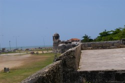 Beach view from fort in Cartagena Colombia.jpg