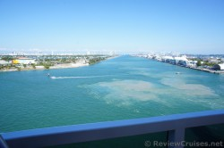 View of the Miami Main Channel where cruise ship leave from aboard Carnival Breeze.jpg