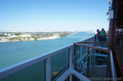 Carnival Breeze turning to face the Main Channel to sail out of Miami.jpg