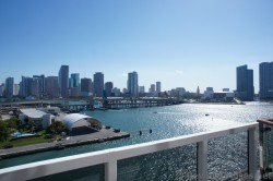 View of American Airlines Arena & 6th St Bridge of Miami from Carnival Breeze.jpg