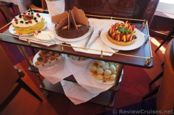 Cart of Chocolate Cakes and Sweets at Carnival Breeze Afternoon Tea.jpg