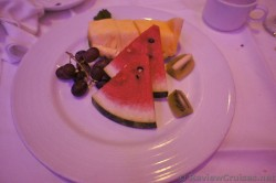 Fresh fruit plate with watermelon kiwi grapes & Pineappale Carnival Breeze.jpg