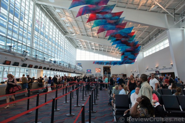 Inside The Carnival Cruise Line Miami Terminal Waiting
