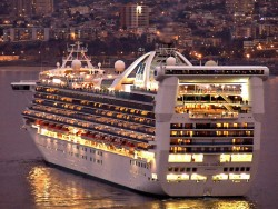 The Golden Princess looking golden at night.jpg