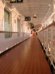 The Promenade deck of the Golden Princess at sunset..jpg