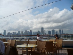 NCL Sun -Outdoor Cafe on  Deck 11