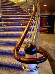 Atrium staircase between Crystal Deck and Tiffany Deck on Crystal Symphony.jpg