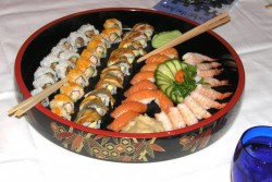 Crystal Cruises Sushi from the The Jade Garden asian speciality restaurant on the Crystal Symphony.jpg