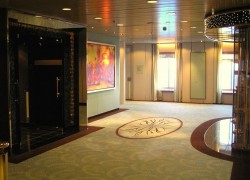 Crystal Symphony Foyer between the casino and the Galaxy show lounge on Tiffany Dek.jpg