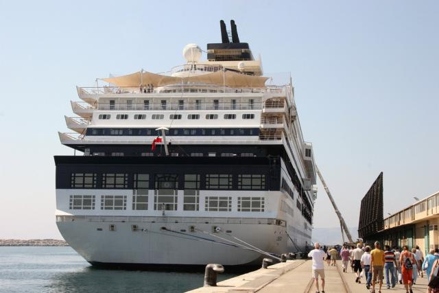 Aft View Of The Celebrity Century Cruise Ship Docked In Marseille - What is aft on a cruise ship