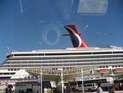 Another view of the Carnival Ship in the Miami Port
