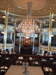 Huge chandelier in the main dining room of the Independence of the Seas.jpg