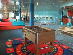 Foosball table inside a game room aboard the Independence of the Seas.jpg