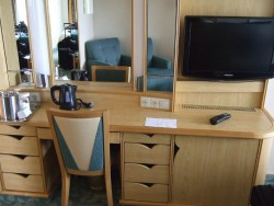 Flat screen TV inside a cabin aboard the Independence of the Seas.jpg