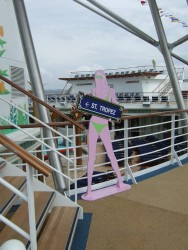 A  woman in bikini siloutte sign aboard the Independence of the Seas cruise ship.jpg