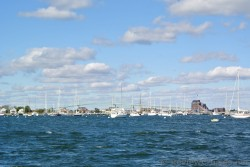 Yachts and boats and long bridge Newport Rhode Island.jpg