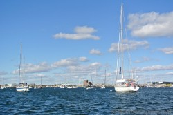 Yachts and boats off of the waters of Newport Rhode Island.jpg