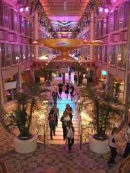Royal Promenade bridge aboard the Independence of the Seas cruise ship.jpg