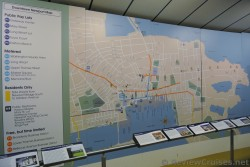Downtown Newport Map at Humphrey Donnelly III Newport Gateway Transportation and Visitors Center Rhode Island.jpg