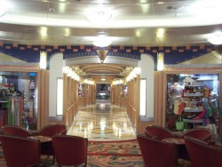 Shopping area of the Disney Magic cruise ship.jpg