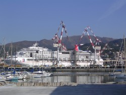The Carnival Splendor being constructed at the shipyard.jpg