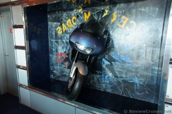 Motorcycle smashed through glass Royal Caribbean Explorer of the Seas.jpg