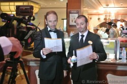 Leigh Xuereb Cruise Director & Erky from Turkey filming a scene Royal Caribbean Explorer of the Seas.jpg