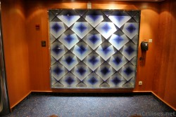 Large patterned cubed art next to Deck 11 Elevators Royal Caribbean Explorer of the Seas.jpg