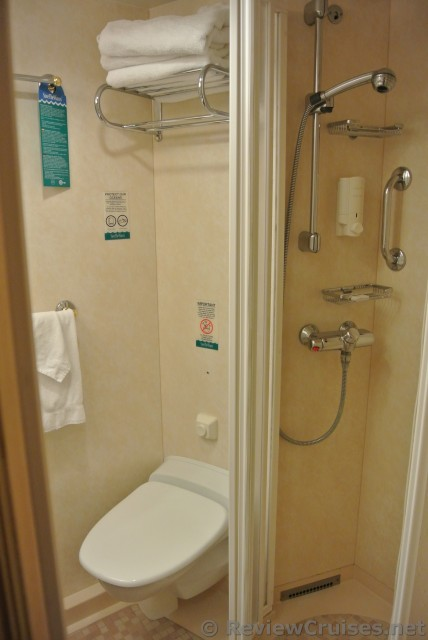 Toilet Amp Small Shower Of Inside Cabin Of Royal Caribbean