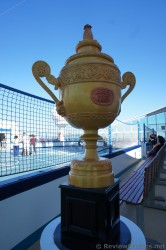 Tennis Trophy sculpture outside sports court of Royal Caribbean Explorer of the Seas.jpg