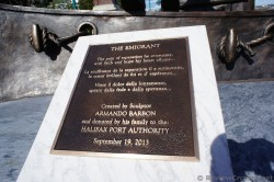 The Emigrant Scuplture plaque created by Armando Barbon in 2013 for Halifax.jpg