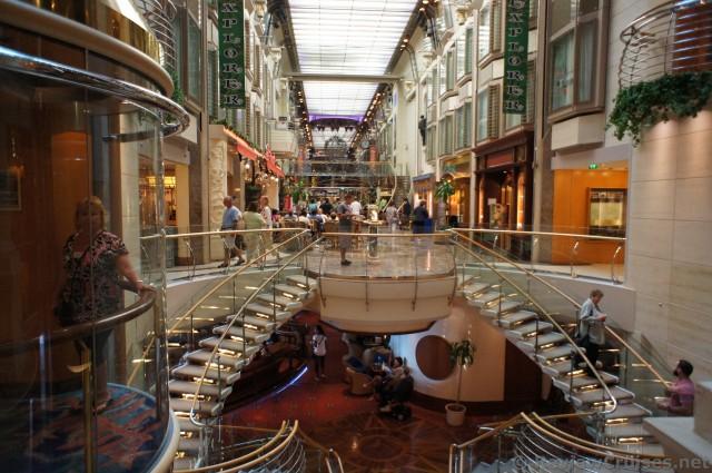 View Of Stairs Amp Explorer Of The Seas Royal Promenade Jpg Hi Res 1440p Qhd