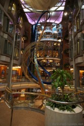 Spiraling sculpture near Explorer of the Seas Royal Promenade.jpg