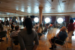 Seminar going on at Explorer of the Seas Fitness Center.jpg